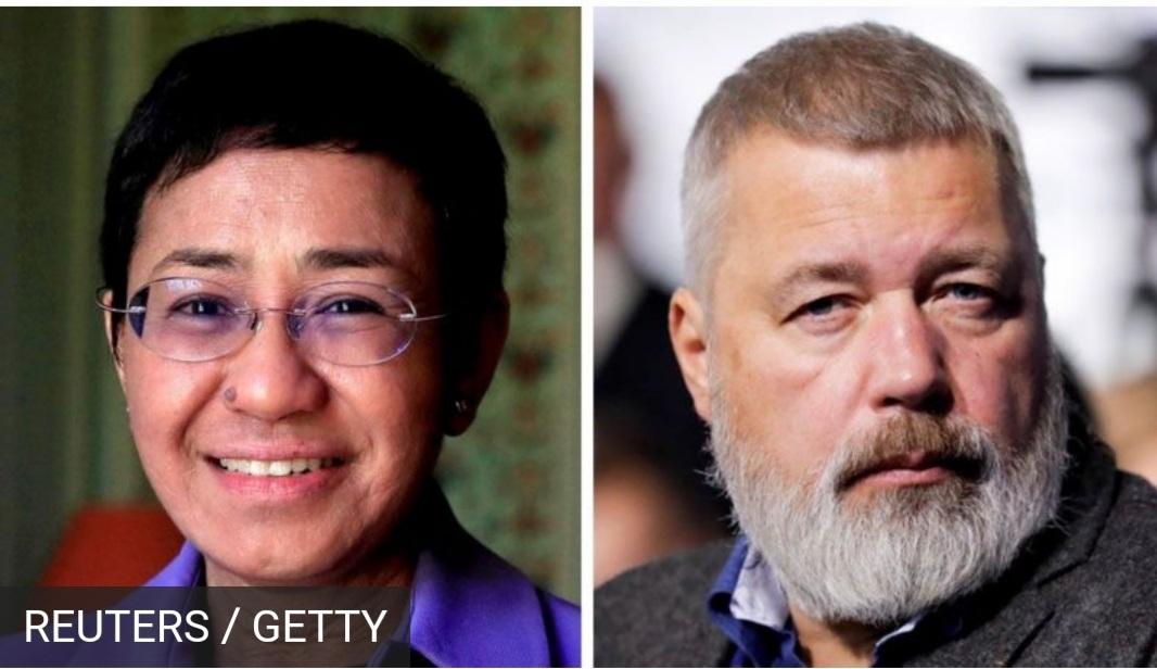 अभिव्यक्ति स्वतन्त्रताको रक्षार्थ साहसिक सङ्घर्षका लागि पत्रकारलाई यस वर्षको नोबेल शान्ति पुरस्कार